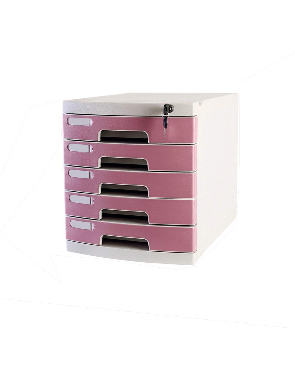 File Cabinet Office Desktop Cabinet 5 Drawers 29.539.443 (cm) Plastic Safety Cabinet File Storage Cabinet Storage Box with Lock Filing cabinets (Color : B)