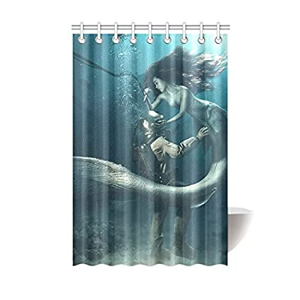 Image Unavailable Not Available For Color CTIGERS Shower Curtain Kids Mermaid