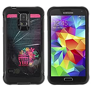 Suave TPU GEL Carcasa Funda Silicona Blando Estuche Caso de protección (para) Samsung Galaxy S5 V / CECELL Phone case / / Pink Dark Text Bowtie /