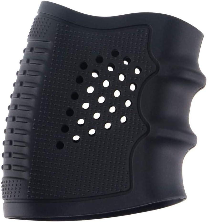 Guante Táctico Glove, Cubierta De Pistola De Goma Accesorios Antideslizantes Airsoft Airsoft para Glock 17/19/20/21/22/23/21/31/32/34/35/37/38/35/37/38, M92,Negro