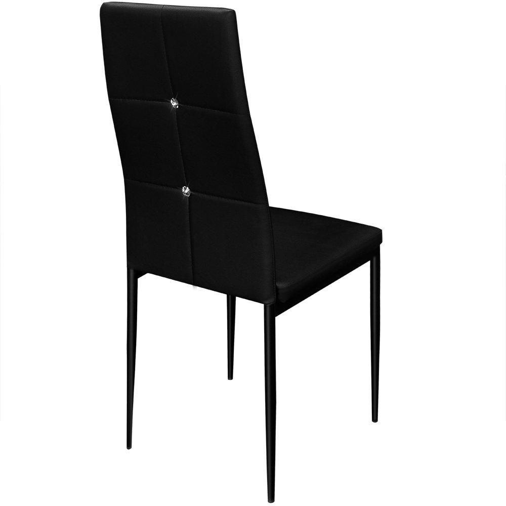 Deuba 6X Esszimmerstühle Esszimmerstühle Esszimmerstühle Stuhl Hochlehner Polsterstuhl Sitzgruppe Essgruppe Esszimmerstuhl schwarz d0e68d