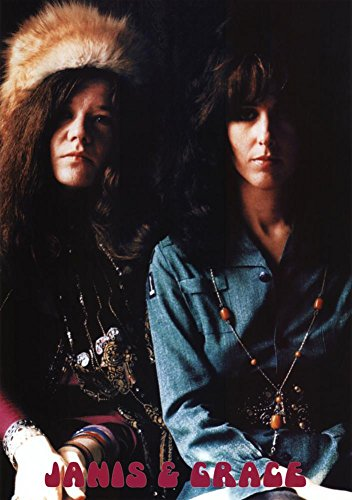 Janis Joplin and Grace Slick Music Poster Print with Hanger