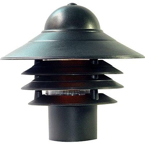 Acclaim 87BK Mariner Collection 1-Light Post Mount Outdoor Light Fixture, Matte Black