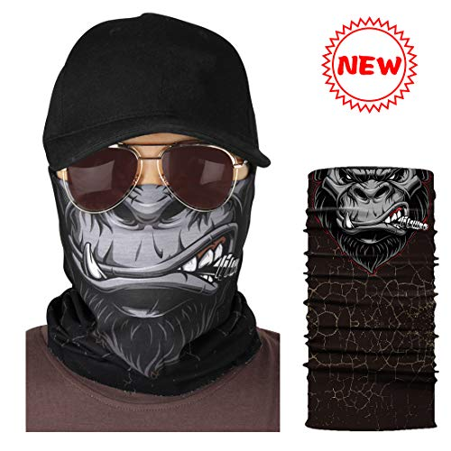 KOMIWOO Outdoor Face Mask-Seamless Tube mask -Headband Bandana, Sport Headwear Scarf, Breathable UV Protection for Fishing Motorcycle Running Hiking Hunting -