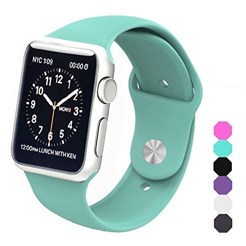 Sxciw Apple Watch Band, Soft Silicone Sports Replacement Wristband for Apple Watch