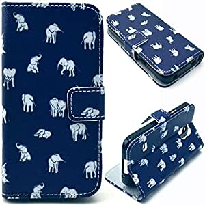 Einzige Slim Fit Leather Case Cover for Samsung Galaxy S5 MINI (Elephant Aberdeen) with Free Universal Screen-stylus