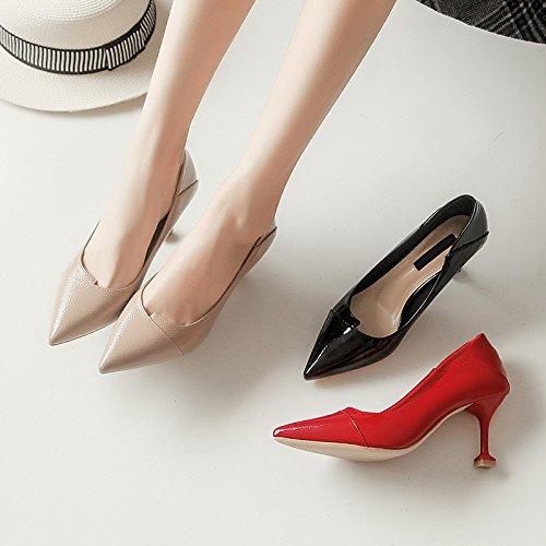 lavorano lavoro YMFIE scarpe ed da estate nero donne stiletto tacchi singole red Le primavera punta sexy a 7rx6P7