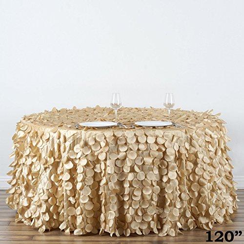 pagne Round Flamingo Petals Tablecloth for Wedding Banquet Restaurant Home Decorations ()