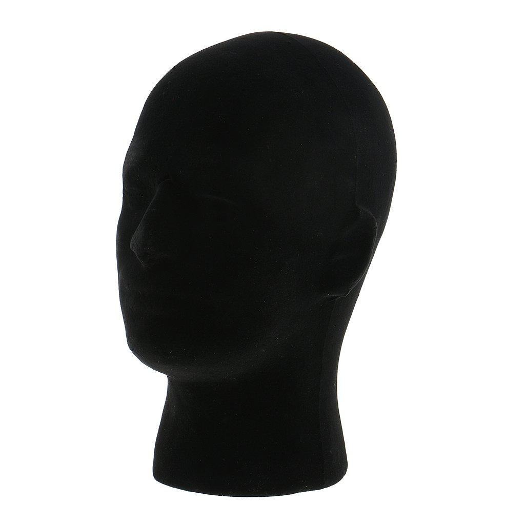 MagiDeal Uomo Styrofoam Maschio Modello Mannequin Manichino Testa Supporto per Esposizione di Parrucche, Cappuccio, Cappelli