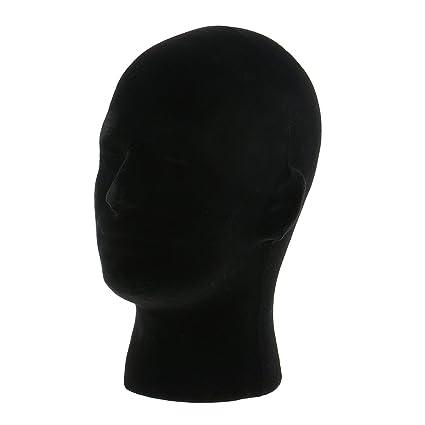 MagiDeal Modelo Maniquí Cabeza de Hombre de Espuma de Poliestireno Exhibición de Pelucas Tapa Sombreros
