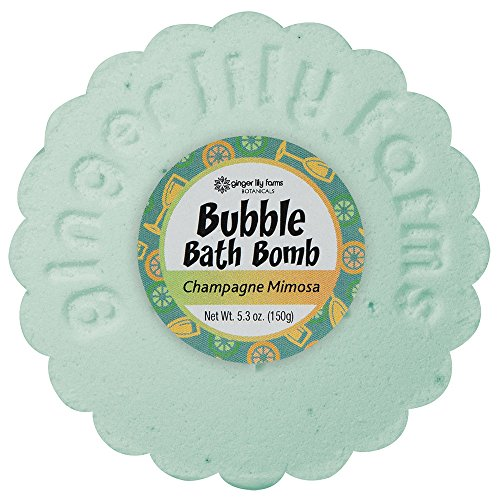 Ginger Lily Farm's Botanicals Champagne Mimosa Bubble Bath Bomb, 5.3 Ounce -