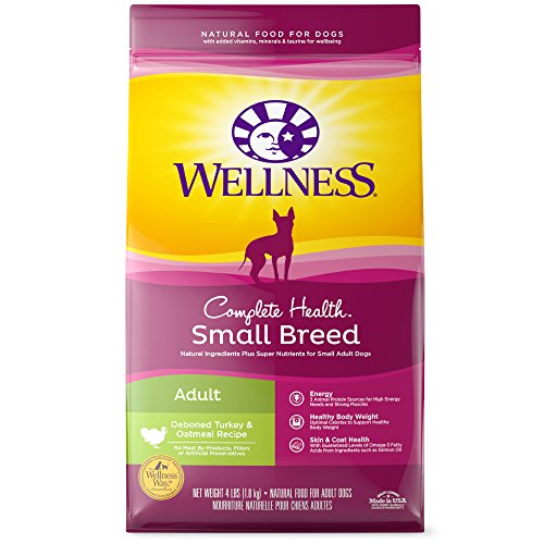 Wellness Complete Health Natural Dry  Small Breed Dog Food, Turkey & Oatmeal, 4-Pound ()
