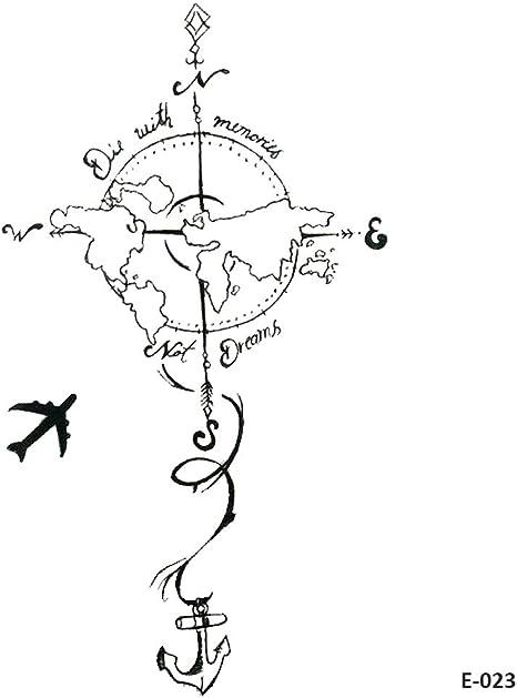 WYUEN 5 hojas Plane a Tierra Tatuaje Temporal Niños Tatuaje ...