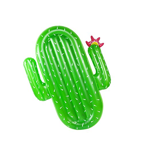 LetsFunny 68in Inflatable Cactus Pool Floats,Large Outdoor Swimming Pool Inflatable (Cactus Pool)