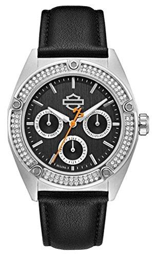 Harley-Davidson Women's Crystal Embellished Stainless Steel Case Watch 76N102