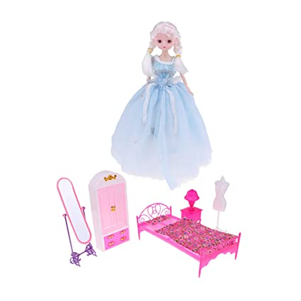 Amazoncom Fityle 12inch Lovely Girl Doll Action Figures Model