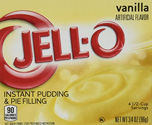 JELL-O Jello Instant Pudding and Pie Filling 4 Boxes (Vanilla)3.4 net oz (Vanilla Pie)