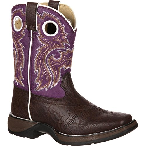 Durango Kids Bt286 Lil' 8 Inch Saddle,dark Brownpurple,3m Little Kid