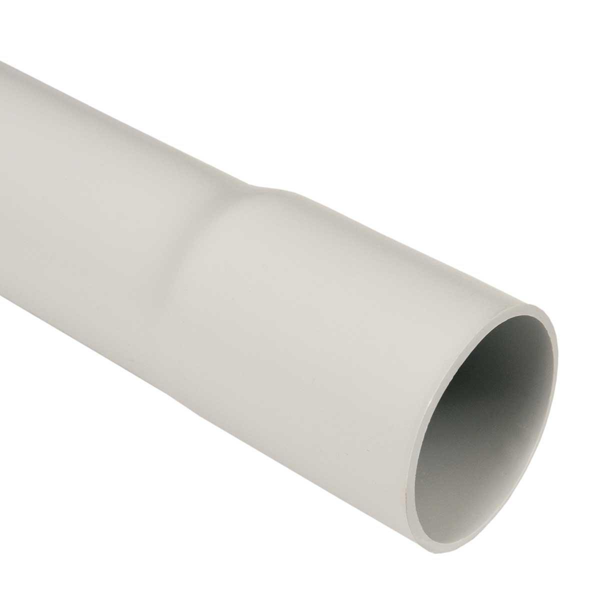 Leerrohr M32 Elektrokabel-Rohr 20m 32mm gemufft hellgrau PVC