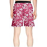 efreio fagf Seamless Hibiscus Guys Classical Summer Boardshort Short Beach Shorts
