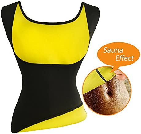 Women's Hot Sweat Slimming Neoprene Shirt Vest Body Shapers for Weight Loss Fat Burner Tank Top 2