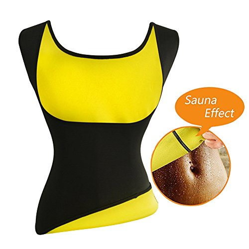 Womens Hot Sweat Slimming Neoprene Shirt Vest Body Shapers for Weight Loss Fat Burner Tank Top (XX-Large, Black)