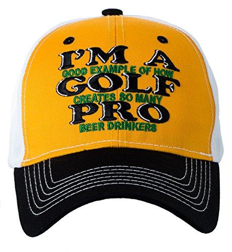 Artisan Owl I'm A Golf Pro Beer Drinker Baseball Cap Hat - Funny Golfer Gift
