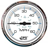 Faria Chesapeake White SS 60 MPH GPS Speedometer by Faria
