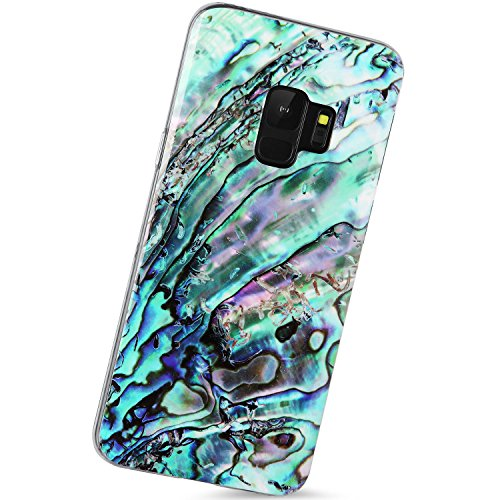 Case Oyster - VIVIBIN Samsung Galaxy S9 Case Green Oyster Shell design,Slim-Fit Scratch Resistant Shock Proof Flexible Glossy Soft Phone Case Cover for Galaxy S9 [5.8