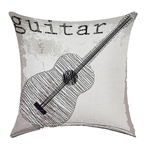 Music Printing Stuffed Cushion LivebyCare Linen Cotton Cover Filling Stuffing Throw Pillow ...