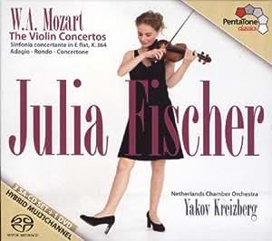 Mozart: Conciertos De Violin, Sinfonia Concertante,... / Fischer, Netherlands Chamber Orch. - Kreizberg (3 Sacd + 1 Dvd)