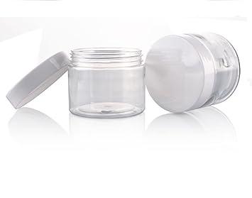Amazon.com: furnido 6pcs 50 g 50 ml PET botella de ...