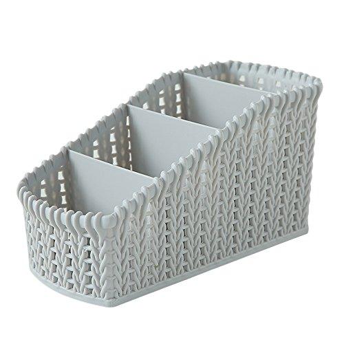Muranba 1PC Office Plastic Storage Box Desktop Debris Cosmetics Basket (Grey)