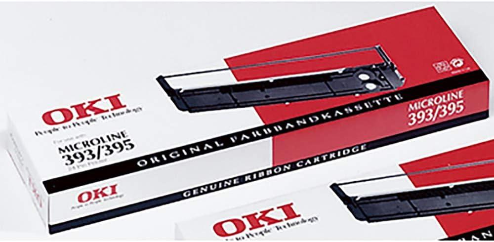 Oki Farbbandkassette Nylon Für 393 395 Schwarz Bürobedarf Schreibwaren