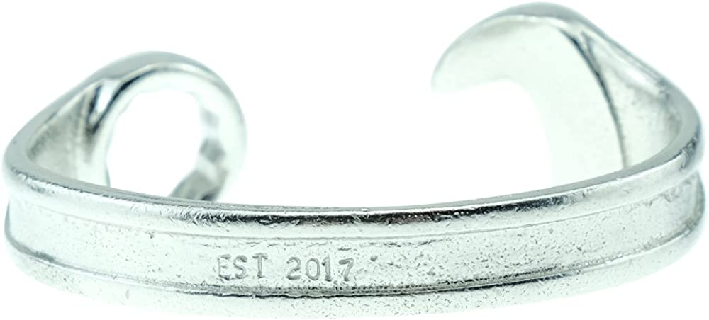 Pirantin 2 Year Anniversary Established 2016 Spanner Wrench Bangle Bracelet Stamped with EST 2016 /…