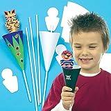 Lot de 10 Kits Marionnettes Cônes - idéal pour les activités de Pâques