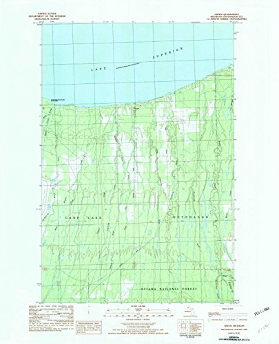 Argentine Island Light - YellowMaps Green MI topo map, 1:25000 scale, 7.5 X 7.5 Minute, Historical, 1982, updated 1983, 27.1 x 21.9 IN - Tyvek