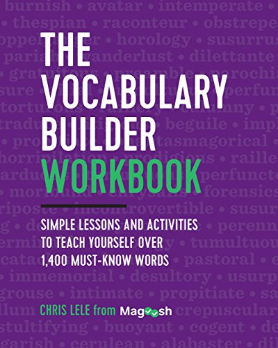 The Vocabulary Builder Workbook: Simple Lessons and Activities to Teach Yourself Over 1,400 Must-Know Words cover