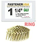 """1 1/4"""" Ring Galvanized Coil Roofing Nails 3.6M"""