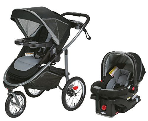 3 Wheel Jogging Stroller Travel System - 1