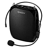 Portable Voice Amplifier Pa system loud speaker with 1800mAh Rechargable Lithium Battery , Wired headset Microphone Waist Support Suitable for Tour Guides, Teachers, Coaches, Presentations, Costumes