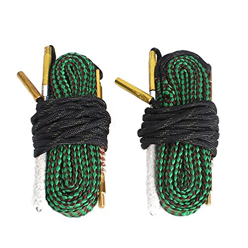 Unigear Gun Bore Cleaner Barrel Snake for Rifle Pistol Shotgun, Brushes Included (Choose Your Caliber)