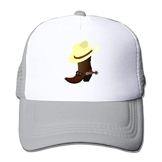5e6afb21200 Amazon.com: Fdreattyuny Boots Cowboy Leather Fashion Baseball Cap ...
