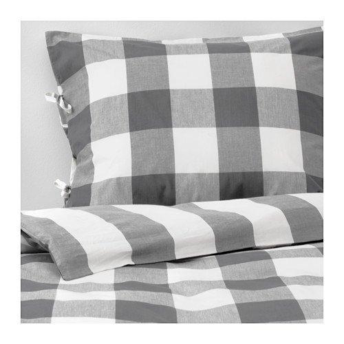 Cottage Plaid Quilt - Ikea New Dark Gray Emmie Ruta Cottage Plaid Full Queen 3 Pc Duvet Quilt Cover Set