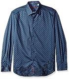 Robert Graham Men's Lionel Classic Fit Sport Shirt, Indigo, Medium