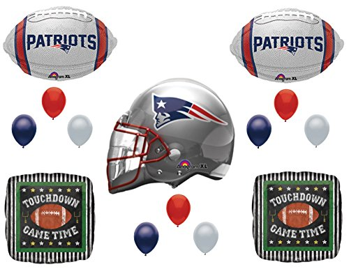 New England Patriots Touchdown Birthday Party Balloons Decoration Supplies -