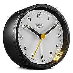 Ameico Braun Classic Analogue Alarm Clock - BC12BW