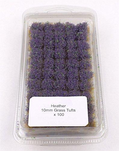 10 Heather (Battleground 10mm Heather Self Adhesive Grass Tufts – Warhammer Miniatures Model)