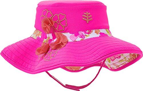 Coolibar UPF 50+ Baby Beach Bucket Hat - UV Swimwear (12-24 Months - Pink Blossom)