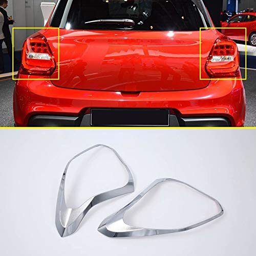 Star-Trade-Inc - For Suzuki Swift 5-door hatchback ABS Chrome Rear Tail Light Lamp Cover Trim 2pcs Car Accessories